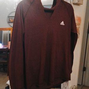 maroon adidas light weight hoodie